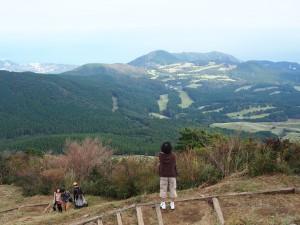 細野高原・遊歩道。絶景です。
