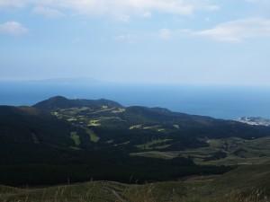 細野高原から大島を望むパノラマ!