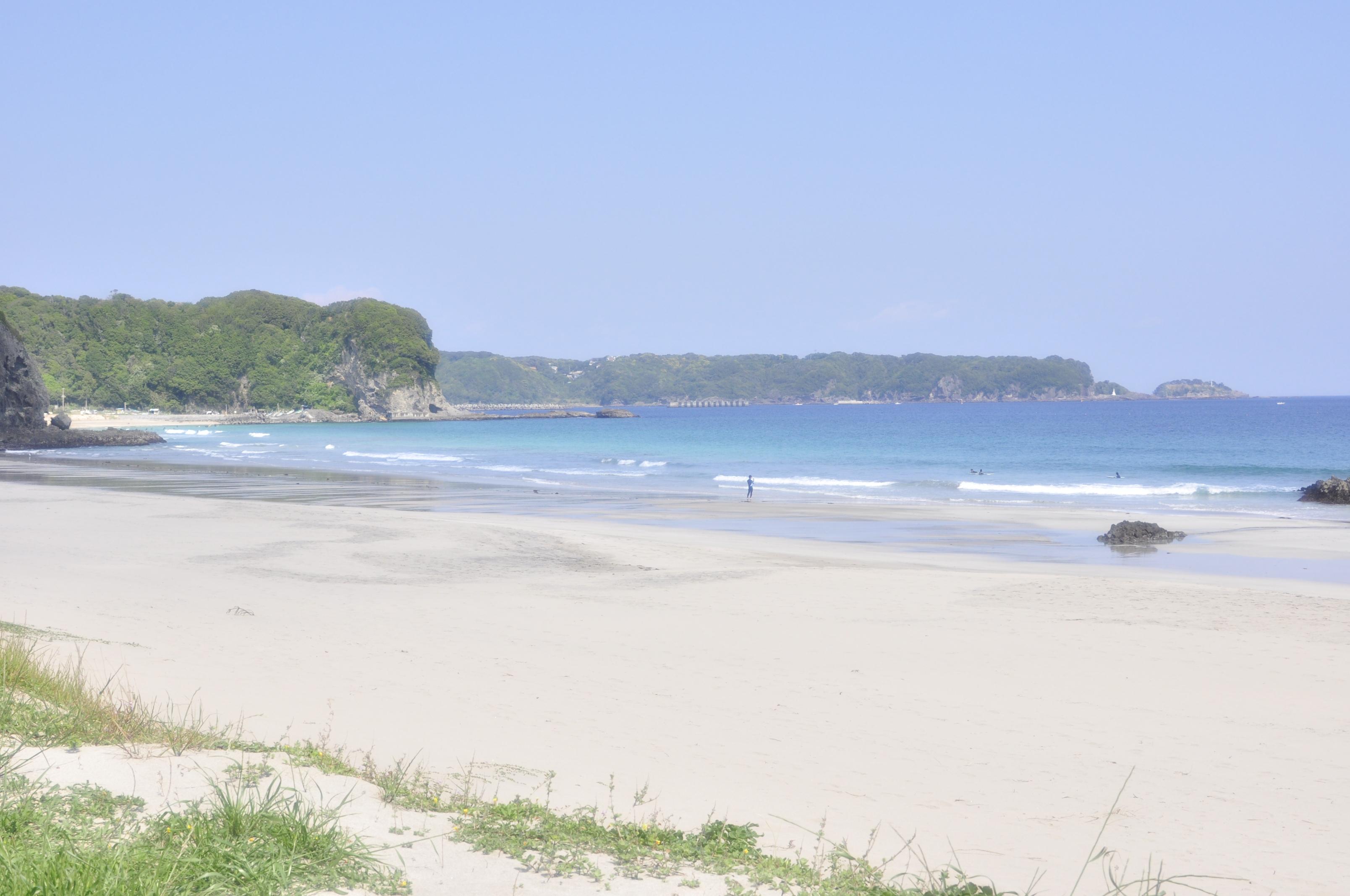 コテージから一番近い入田浜海水浴場
