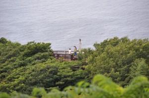 恋人岬 展望台と鐘