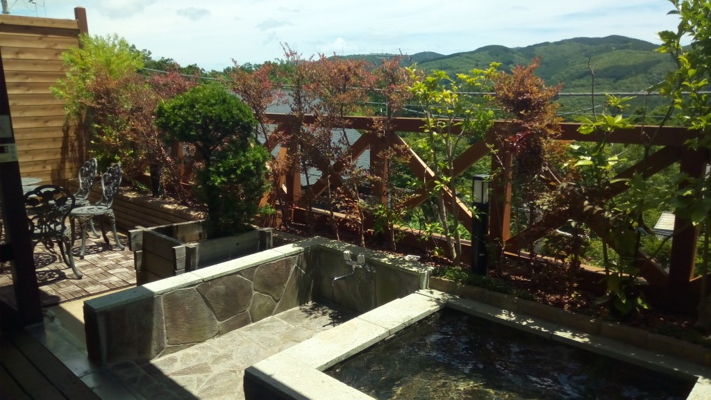 修善寺フォーレスト露天風呂からの景色