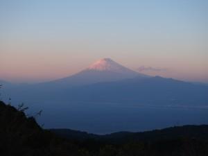 達磨山から望む霊峰富士山 夕暮れもまた美しい