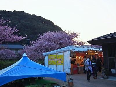 みなみの桜と菜の花祭りの出店の様子