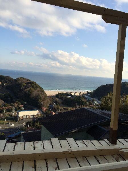伊豆の海が見えるバーベキューコーナー