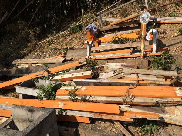 伊豆の海の見えるバーベキューコーナー解体