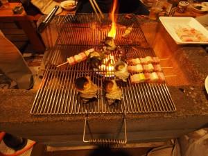入田浜山荘 海の見えるバーベキュー場でBBQ さざえつぼ焼き、あわびつぼ焼き