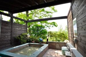 修善寺フォーレスト一戸建て 露天風呂 温泉