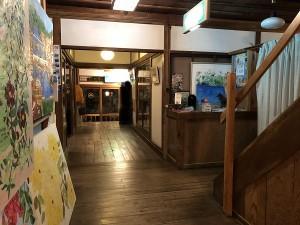 下田 金谷旅館の日帰り温泉に行く 館内はレトロな雰囲気