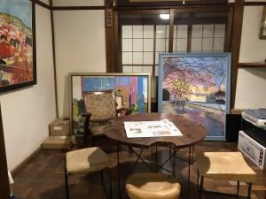下田 金谷旅館の館内 オーナーのコレクションなどレトロな雰囲気