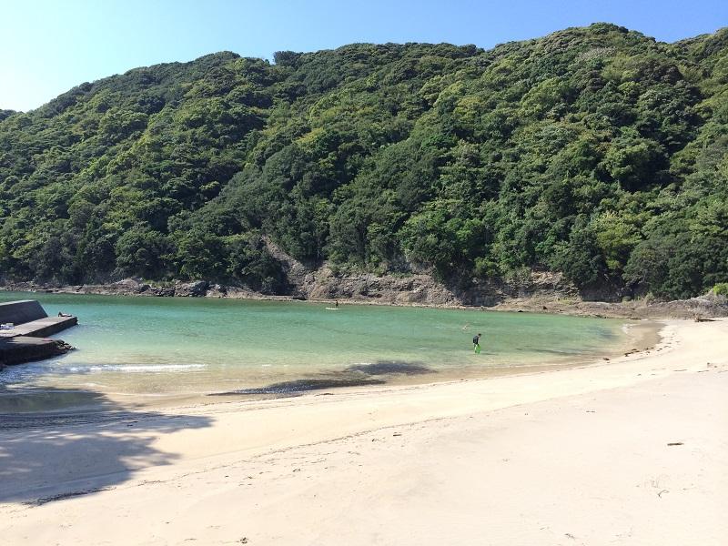 鍋田浜は小さな子連れでも安心。下田市街地から一番近いビーチ