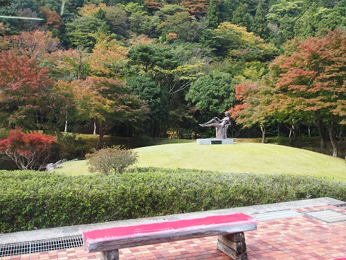 昭和の森会館の紅葉