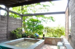 修善寺フォーレスト 一戸建て棟 露天風呂 温泉