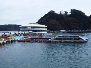 海の上に浮かぶ水族館・下田海中水族館