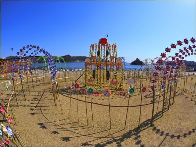 伊豆・下田特有のお祭り/風の花祭り まどが浜公園