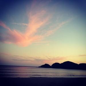 ウミガメの産卵が行われる綺麗な砂浜、弓ヶ浜